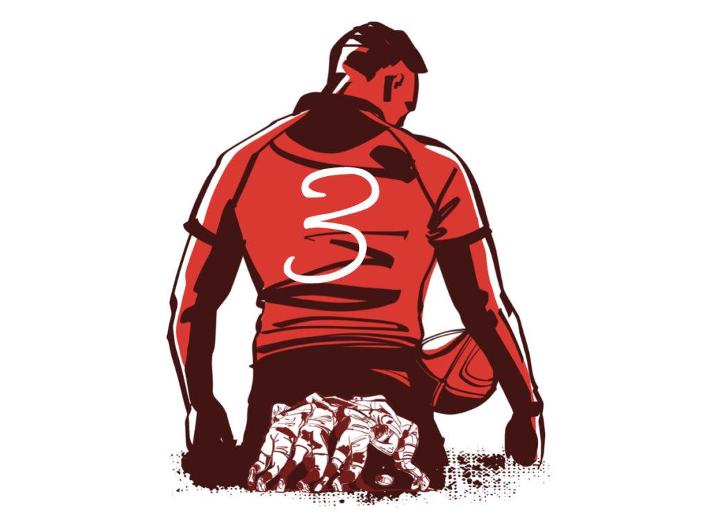 ラグビーのポジション 右プロップ(背番号3番)