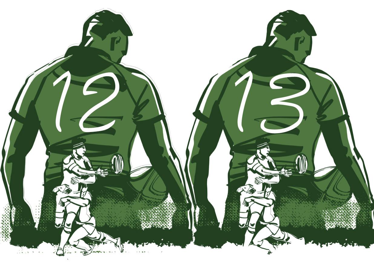 センターとは|ラグビーのポジション役割解説【CTB/背番号12番13番】