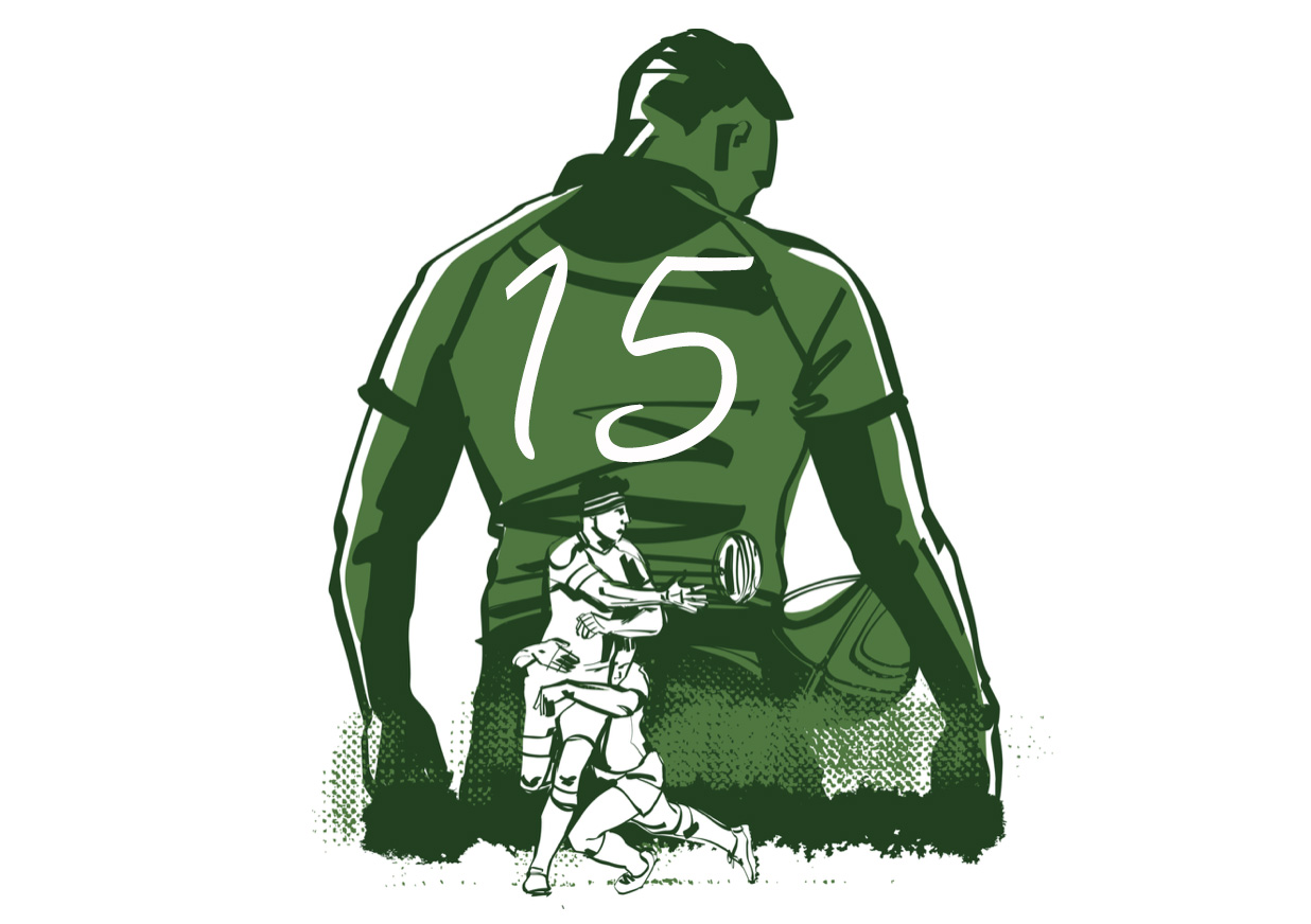 フルバックとは|ラグビーのポジション役割解説【FB/背番号15番】