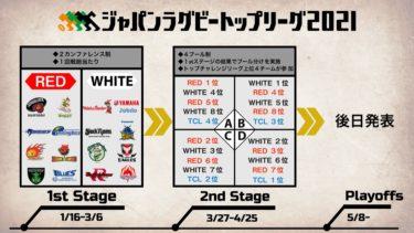 トップリーグ2021の日程一覧【セカンドステージとプレーオフ】